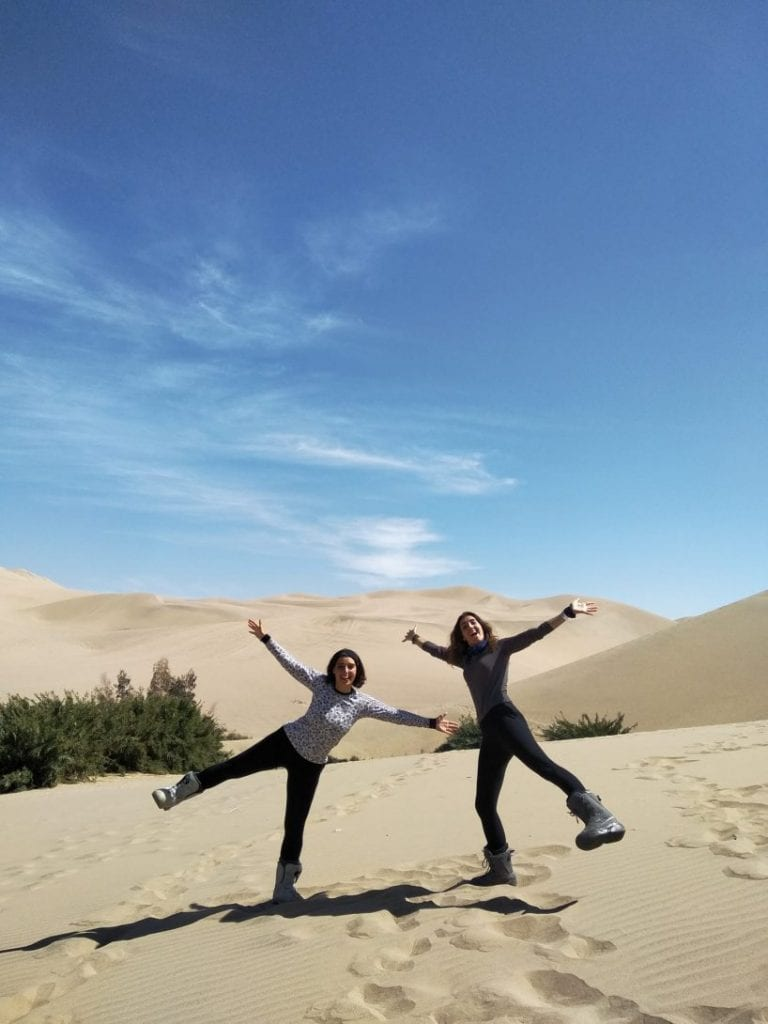 Traveling in Huacachina
