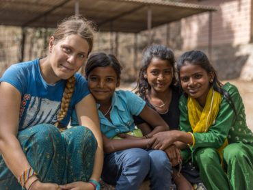 Development volunteer in India
