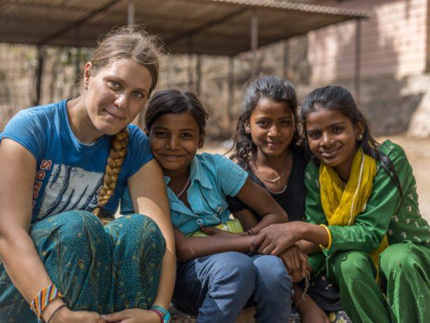 Development volunteer in India